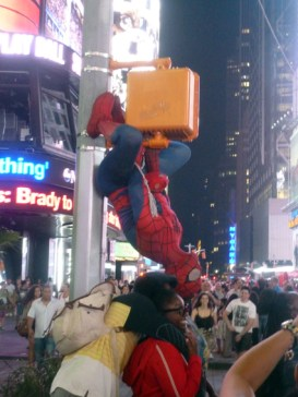 Times Square - no girl kissed him though