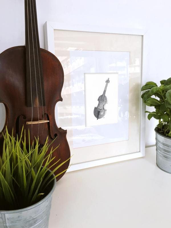 Design and more & More illustration art dessin aquarelle DUC Thomas Ducourneau Boutique viole de gambes