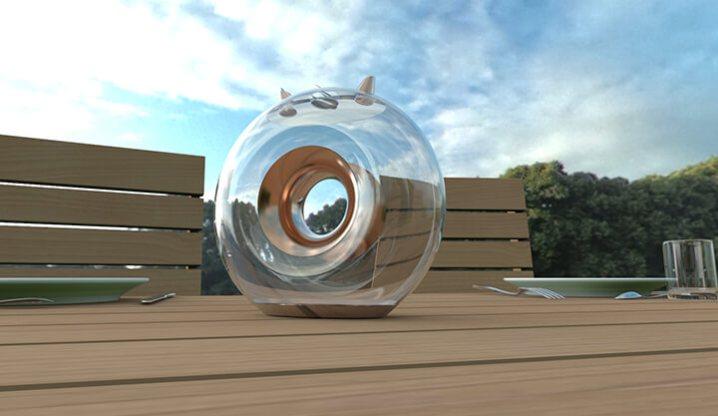 Design produit création caraffe eau cuivre