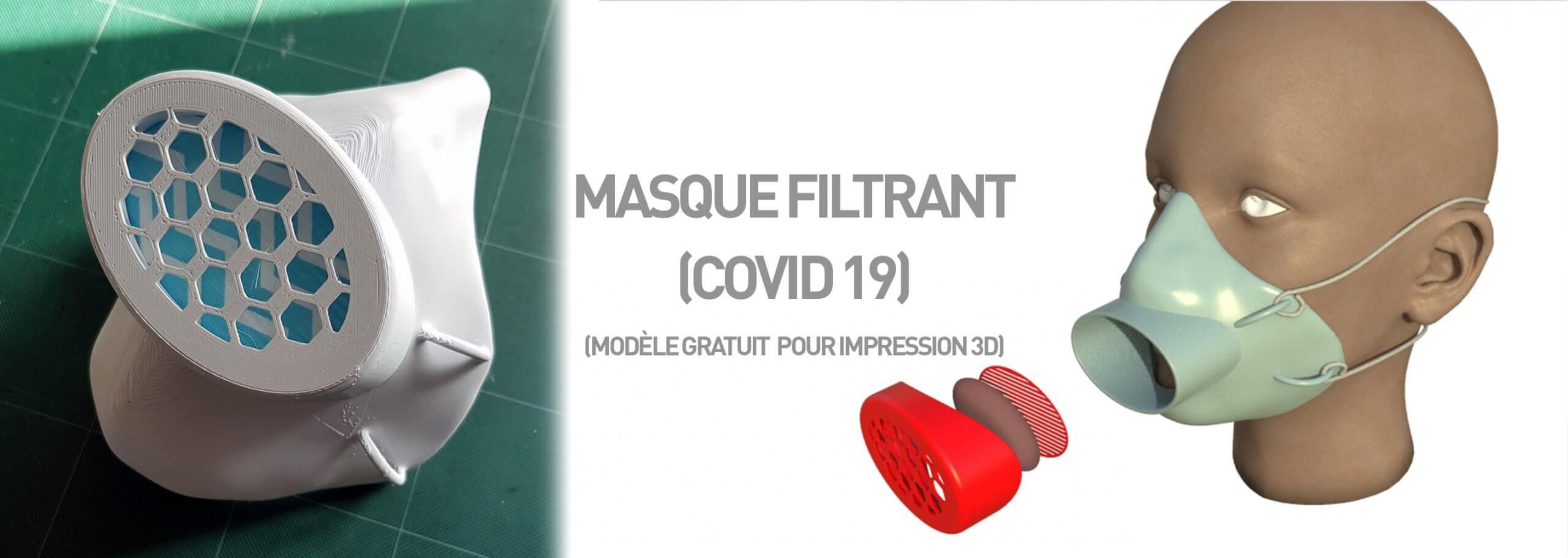 bannière masque filtrant covid 19