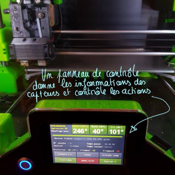 écran de contrôle imprimante