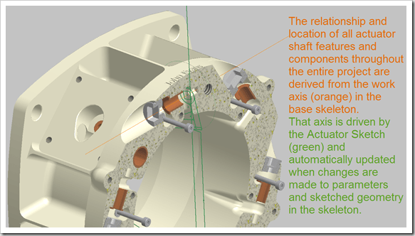 Autodesk Inventor 2011 derived components from skeleton