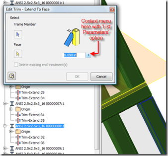 Inventor – Weld Gap nominal parameter