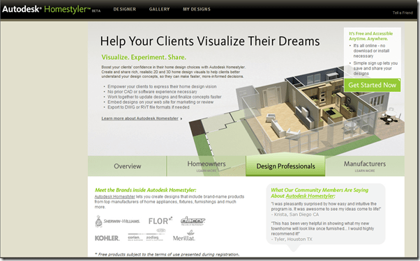 Autodesk Homestyler Design Motion