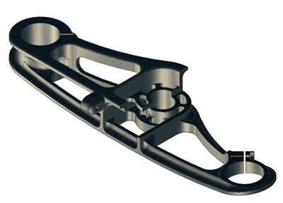 Amarok Upper Triple Clamp Cross Section