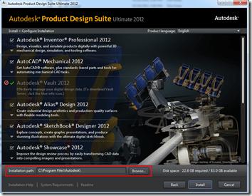 Autodesk Product Design Suite 2012 Configuration