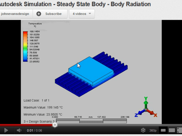Autodesk Simulation Steady State Heat Transfer body to body radiation