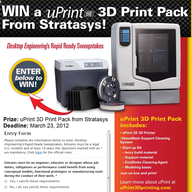 Win a uPrint SE 3D Print Pack