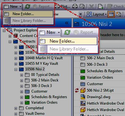 Autodesk Vault | Vault UI – New Folder