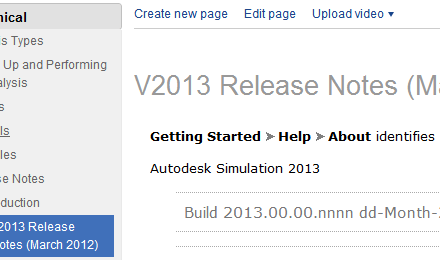 Simulation | 2013 Release Notes