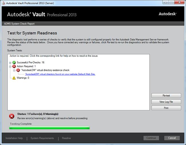 Vault | Removing the AutodeskDM Website