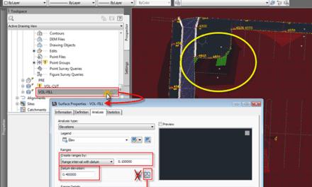 Civil 3D   2013 Volume Surface Analysis Display with Datum