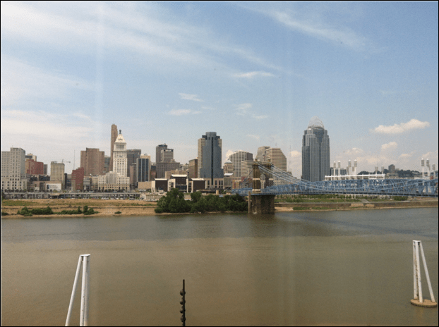 My view of Cincinnati at Embassy Suites River Center Solid Edge University 2013