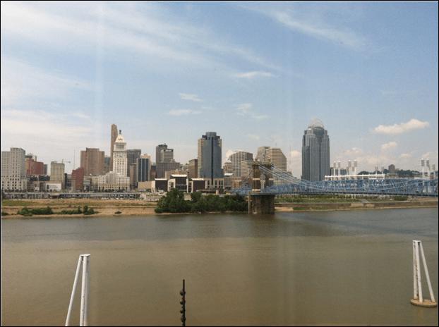 My view of Cincinnati at Embassy Suites River Center Solid Edge University 2013