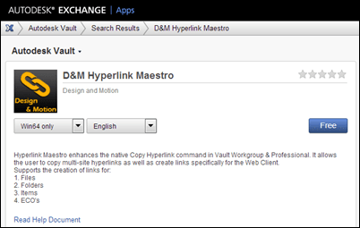 Design & Motion Hyperlink Maestro Vault app