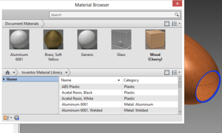 Inventor | Materials Editor Navigation