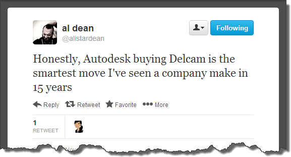 Al Dean's opinion of Autodesk's Delcam Announcement