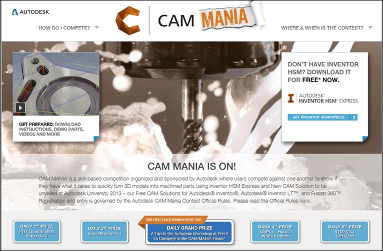 CAM MANIA at Autodesk 2013