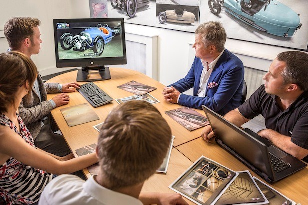 Morgan Motor Company reviewing an Autodesk Showcase rendering
