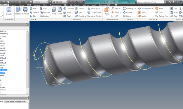 Could Solidworks Teach Inventor a thing or two about modelling augers and feedscrews?