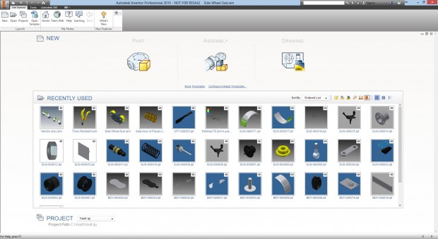 Autodesk Inventor 2015 Home Tab