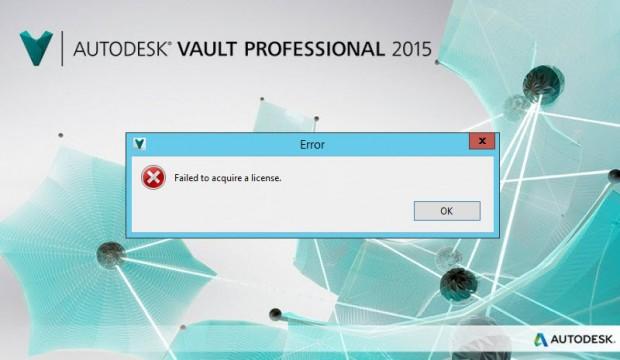 Autodesk Vault 2015 Failed to Acquite License