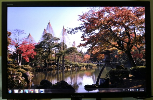 Kanazawa Japan shown on Lenovo Flatpanel monitor