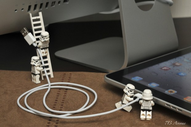 Syncing the iPad - Lego Stormtroopers