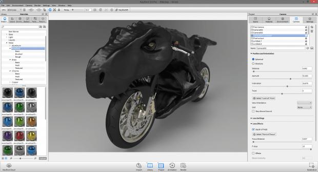A render of Dino-bike created using Keyshot 5