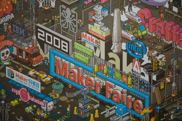 Maker Faire Image - Pixel Art