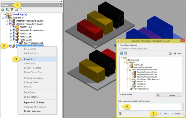 Autodesk Inventor iAssembly Vault Check In