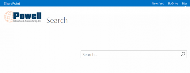 Powell SharePoint Search Field