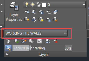 layer states in the AutoCAD ribbon