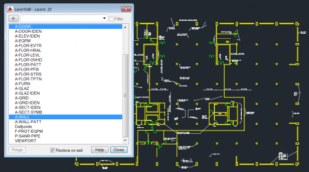 AutoCAD Layer Walk