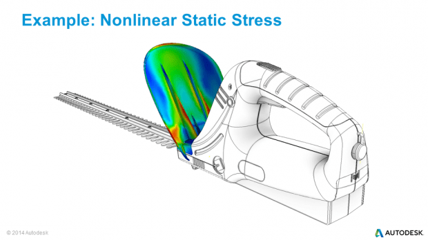 Autodesk Inventor Nastran In-CAD Non-Linear Static Stress Hedge Trimmer