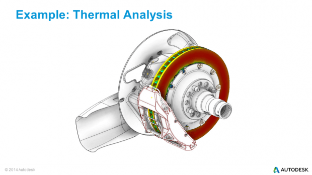Autodesk Inventor Nastran In-CAD Thermal Analysis Formula One Upright & Brake Assembly