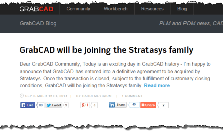 Stratasys Agrees to Buy GrabCAD