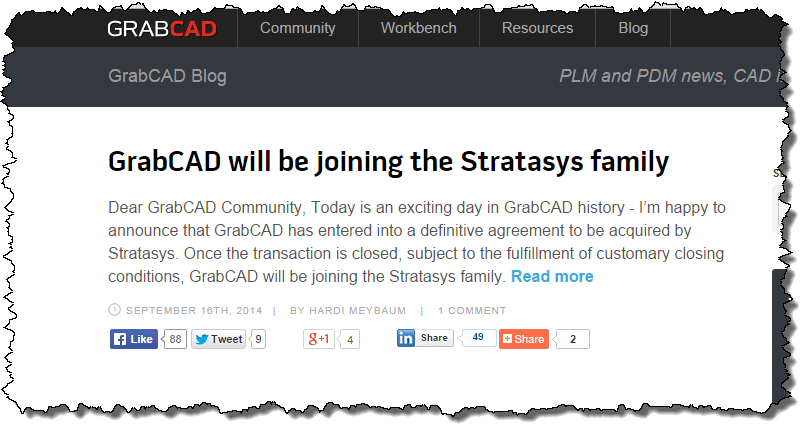 Stratasys Agrees to Buy GrabCAD