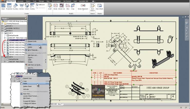 Autodesk Inventor Copy Paste View