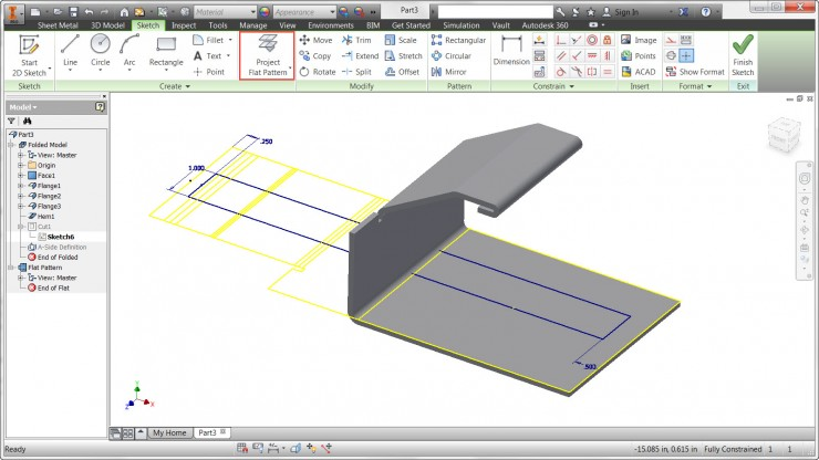 Inventor - Project Flat Pattern