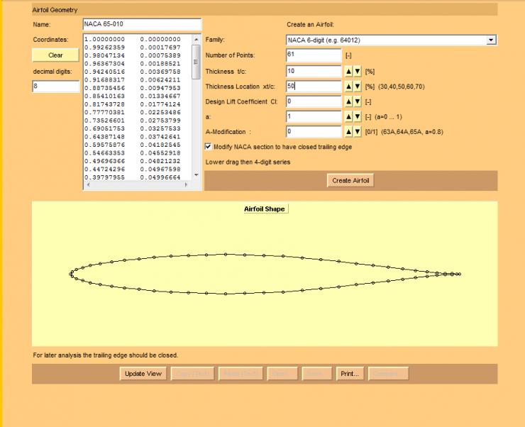 Airfoil Creation Java Tools