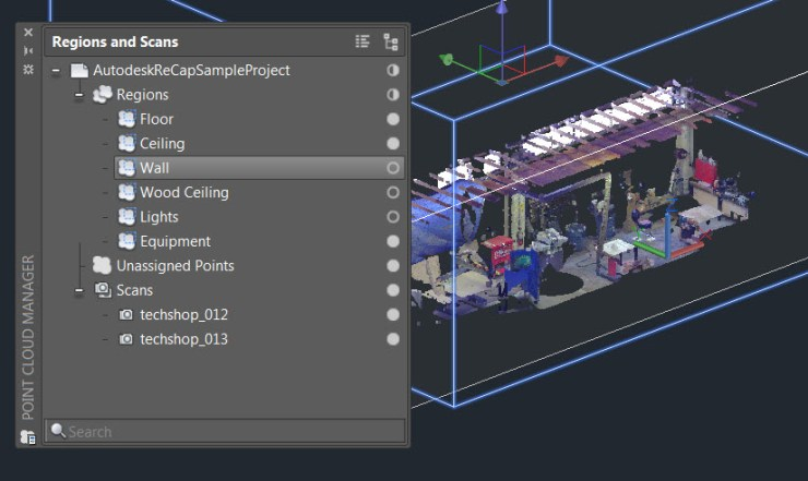 AutoCAD 2016 Point Cloud Manager