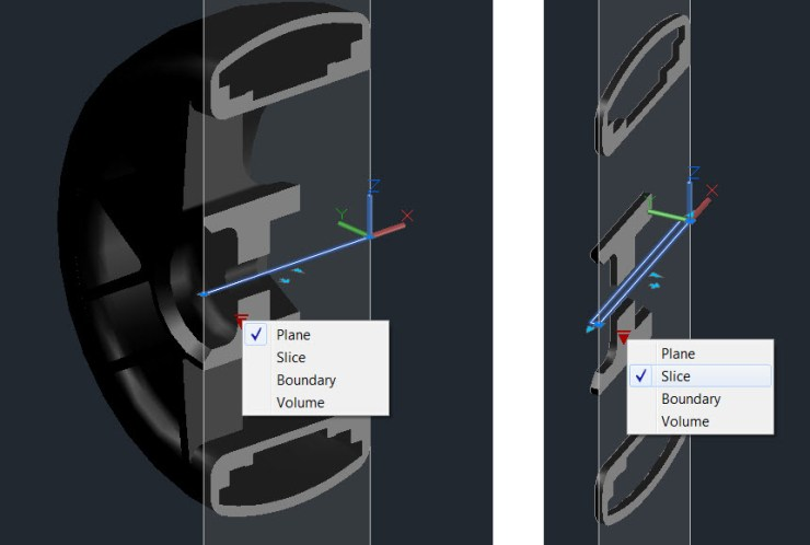 AutoCAD 2016 Section Plane Toggle