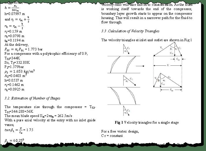 Favorite paper on basic turbojet axial compressor design