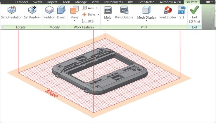 Inventor 2016 3D Print