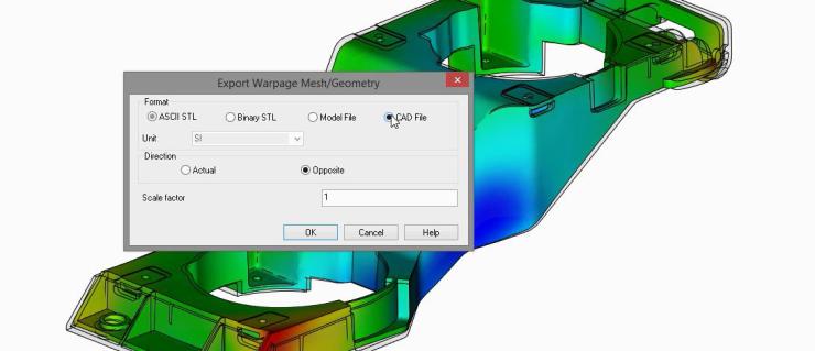 Autodesk Moldflow Export Warped Part