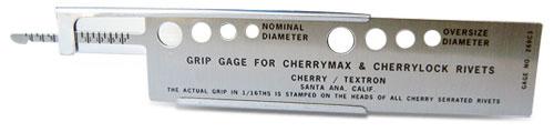 CherryMax Blind Rivet Grip Gauge
