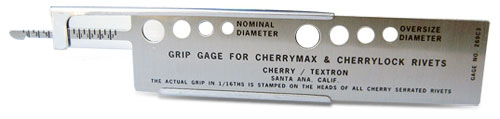CherryMax Blind Rivet Grip Gauge