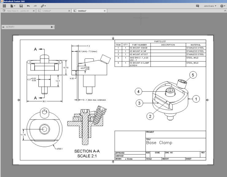 Fusion 360 Drawing Enhancements