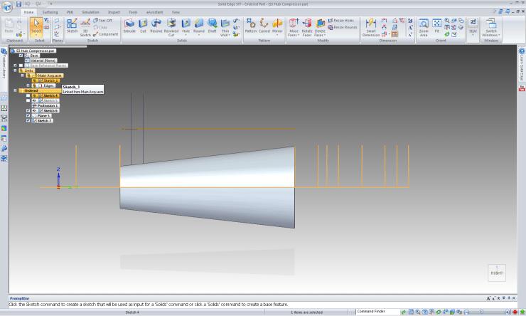 Solid Edge ST7 Copy Sketch